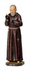 """Copertina di 'Statua in resina colorata """"Padre Pio"""" - altezza 20 cm'"""