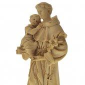 """Immagine di 'Statua sacra in resina patinata con base """"Sant'Antonio di Padova"""" - altezza 21 cm'"""
