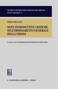 Copertina di 'Note introduttive critiche sull'ordinamento generale della Chiesta'