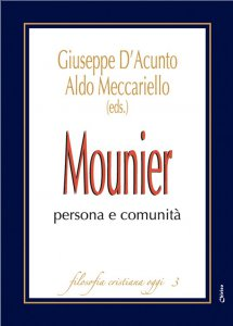 Copertina di 'Mounier: persona e comunità'