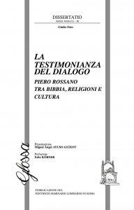 Copertina di 'La testimonianza del dialogo'