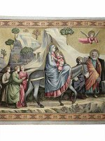 """Arazzo sacro """"Fuga in Egitto"""" - dimensioni 94x132 cm - Giotto"""