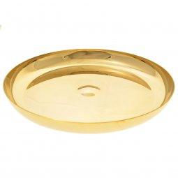 Copertina di 'Patena a ciotola in ottone dorato con base - diametro 23 cm'
