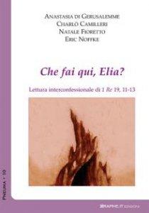 Copertina di 'Che fai qui, Elia? Lettura interconfessionale di 1Re 19,11-13'