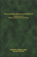 Leccionario bíblico-patristico. Ciclo bienal para el oficio de lectura
