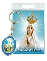 Portachiavi Madonna di Fatima con preghiera in italiano