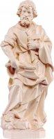 Statua di San Giuseppe artigiano in legno naturale, linea da 15 cm - Demetz Deur