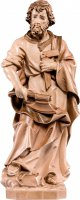 Statua di San Giuseppe artigiano in legno, 3 toni di marrone, linea da 15 cm - Demetz Deur