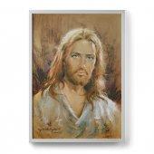 """Quadro """"Volto di Gesù"""" moderno con cornice minimal - dimensioni 50x70 cm - Carlo Parisi"""