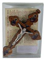 """Immagine di 'Croce in legno d'ulivo """"Quattro Evangelisti"""" - altezza 11 cm'"""