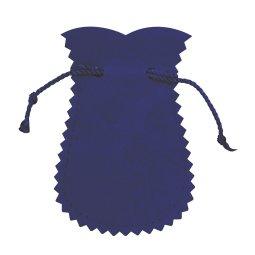 Copertina di 'PPortarosario anfora in panno vellutato di colore blu - 9,5 x 5 cm'