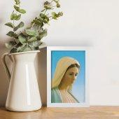 """Immagine di 'Quadretto """"Madonna di Medjugorje"""" con cornice minimal - dimensioni 15x10 cm'"""