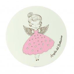 Copertina di 'Tondo rosa con angelo per il Battesimo - diametro 13 cm'