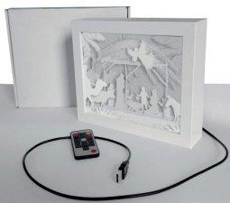 Copertina di 'Lampada-quadretto con presepe - dimensioni 18,5x24 cm'