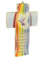"""Croce """"I 7 doni dello Spirito Santo"""" - effetto pietra"""