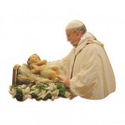 """Copertina di 'Calamita """"Papa Francesco con Gesù Bambino"""" - dimensioni 7x6 cm'"""