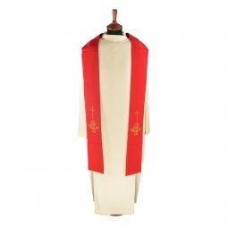 Copertina di 'Stola rossa con ricamo a croce e cristogramma IHS'