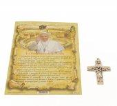 """Immagine di 'Croce in metallo """"Il buon pastore"""" e pagellina con preghiera delle 5 dita'"""