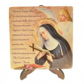 """Piastrella """"Preghiera a Santa Rita"""""""