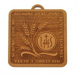 """Copertina di 'Quadretto in legno """"Signore Gesù pane di vita..."""" con cartoncino in busta trasparente'"""