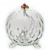 Lampada in vetro soffiato per cera liquida a forma di sfera - dimensioni 14x14,5 cm