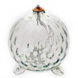 Copertina di 'Lampada in vetro soffiato per cera liquida a forma di sfera - dimensioni 14x14,5 cm'