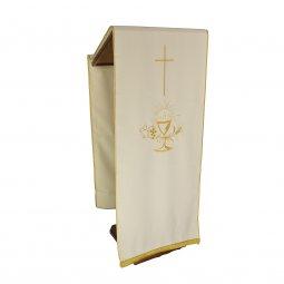 Copertina di 'Coprileggio avorio con croce e simboli Prima Comunione'