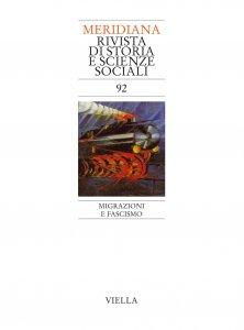 Copertina di 'Meridiana 92: Migrazioni e fascismo'