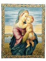 """Arazzo """"Madonna con Gesù Bambino"""" (65cm x 53cm)"""