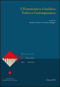 Copertina di 'L' ermeneutica giuridica tedesca contemporanea'
