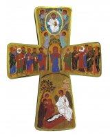 Immagine di 'Croce Mistero Ascensione stampa su legno - 6,5 x 10 cm'