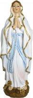 Statua Madonna Lourdes da 12 cm in confezione regalo con immaginetta