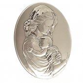 Bassorilievo in argento Madonna con Bambino addormentato di  su LibreriadelSanto.it
