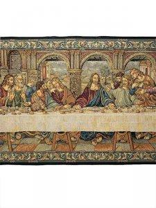 """Copertina di 'Arazzo sacro """"Ultima cena"""" - dimensioni 65x165 cm'"""