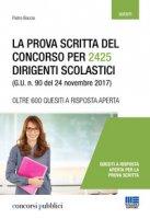 La prova scritta del concorso per 2425 dirigenti scolastici (G. U. n. 90 del 24 novembre 2017) - Boccia Pietro