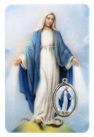 Card Madonna Miracolosa in PVC - misura 5,5 x 8,5 cm - Italiano