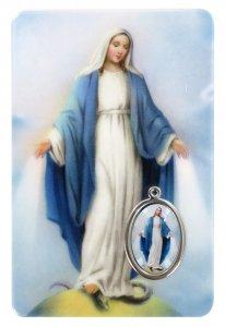 Copertina di 'Card Madonna Miracolosa in PVC - misura 5,5 x 8,5 cm - Italiano'