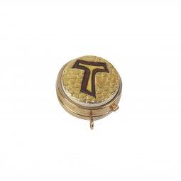 Copertina di 'Teca eucaristica ostie in ceramica Modello Bizantino - Ø 5 cm'