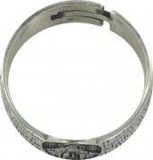 Immagine di 'STOCK: Anello in argento 925 con l'incisa preghiera Ave Maria misura italiana n°22 - diametro interno mm 19,8 circa'