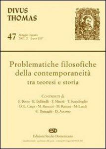 Copertina di 'Problematiche filosofiche della contemporaneità tra teoresi e storia'