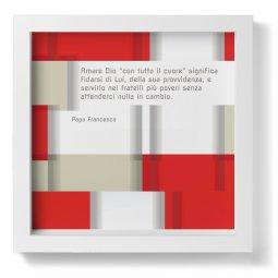 """Copertina di 'Quadro """"Amare Dio con tutto il cuore"""" di papa Francesco - dimensioni 23x23 cm'"""
