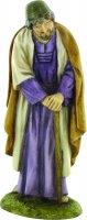 San Giuseppe con mantello marrone per  presepe cm 10 - Linea Martino Landi
