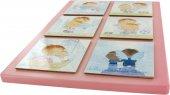 Immagine di 'Tavola Angelo di Dio 6 riquadri in legno cm 29x21 - Rosa'