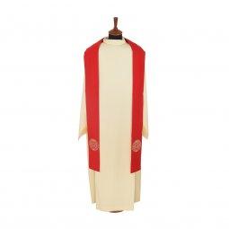Copertina di 'Stola rossa con medaglia di San Benedetto ricamata'