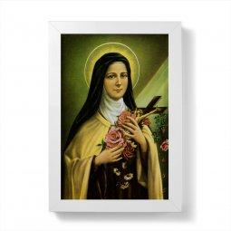 """Copertina di 'Quadretto """"Santa Teresa di Lisieux"""" con cornice minimal - dimensioni 15x10 cm'"""