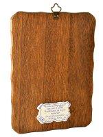 """Immagine di 'Icona in  legno da appendere """"Cristo Pantocratore"""" - dimensioni 15x10 cm'"""