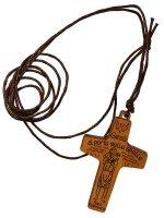 """Croce con laccio """"Gesù ci porta sulle spalle"""""""