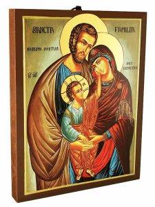 """Copertina di 'Icona in legno """"Sacra Famiglia"""" - dimensioni 26x20 cm'"""