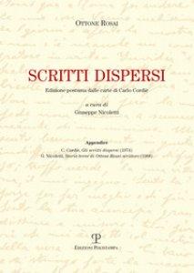 Copertina di 'Scritti dispersi. Edizione postuma dalle carte di Carlo Cordié'
