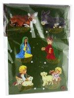 Immagine di 'Presepe tridimensionale in cartoncino con Gesù bambino fosforescente'